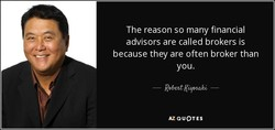 The reason so many financial 