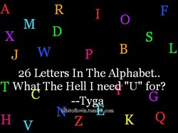 26 Letters In The Alphabet.. 