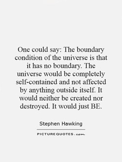 One could say: The boundary 