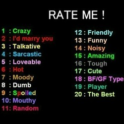 RATE ME ! 