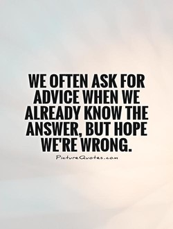 WE OFTEN ASK FOR 