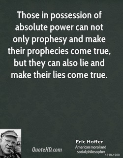 Those in possession of 