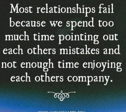 Most relationships fail 