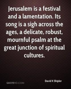 Jerusalem is a festival 