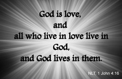 God is love, M - 