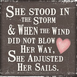 SHE STOOD 