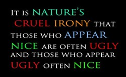 IT IS NATURE'S 