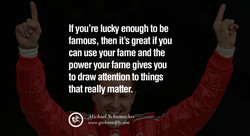 If you're lucky enough to be 
