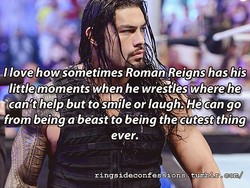 Ilove how sometimes Roman Reigns has his 