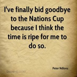 I've finally bid goodbye 