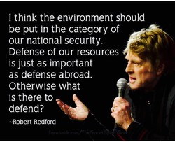 I think the environment should 