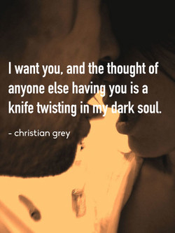 I want you, and the thought of 