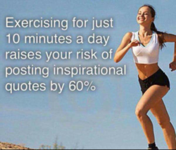 Exercising for just 