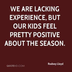 WE ARE LACKING 