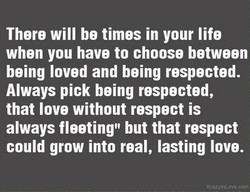 There will be times in your life 