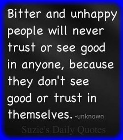 Bitter and unhappy 