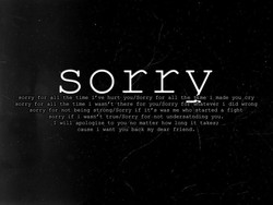 sorrv 