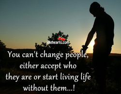 You can't change peopl 