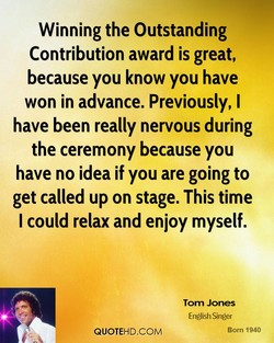 Winning the Outstanding 