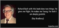 Richard Bach with this bmk does two things. He 