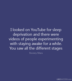 I looked on You Tube for sleep 