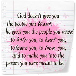 God doesn't give you 