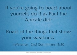 If you're going to boast about 
