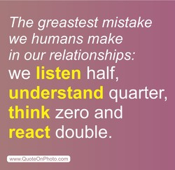 The greastest mistake 
