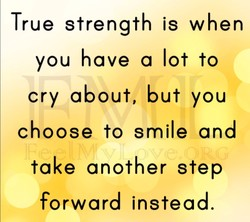 True strength is when 
