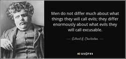 Men do not differ much about what