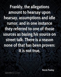Frankly, the allegations 