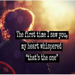 The first ine saw you, 