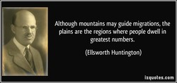 Although mountains may guide migrations, the 