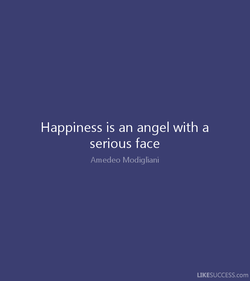 Happiness is an angel with a 
