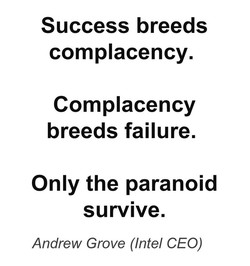 Success breeds 