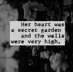 Her heart was 