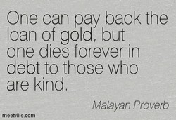 One can pay back the 