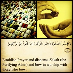 Establish Prayer and dispense Zakah (the 