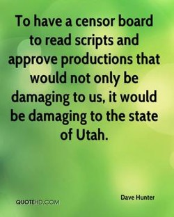 To have a censor board 
