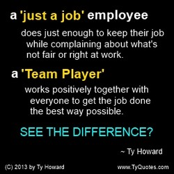 a 'just a job' employee 