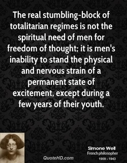 The real stumbling-block of 