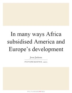 In many ways Africa 