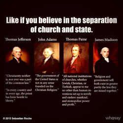 Like if you believe in the separation 
