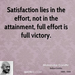 Satisfaction lies 'in the 