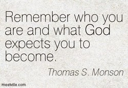 Remember who you 