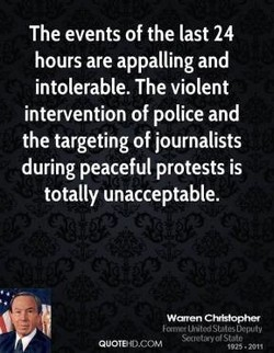 The events of the last 24 