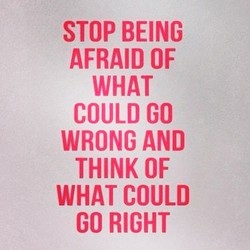 STOP BEING 