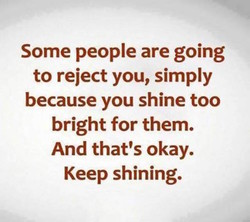 Some people are going 