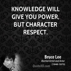 KNOWLEDGE WILL 