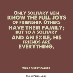 ONLY SOLITARY MEN 
